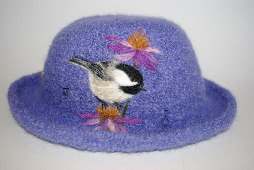 12-073 chickadee periwinkle elann donegal tweed wool sold Gallery 10