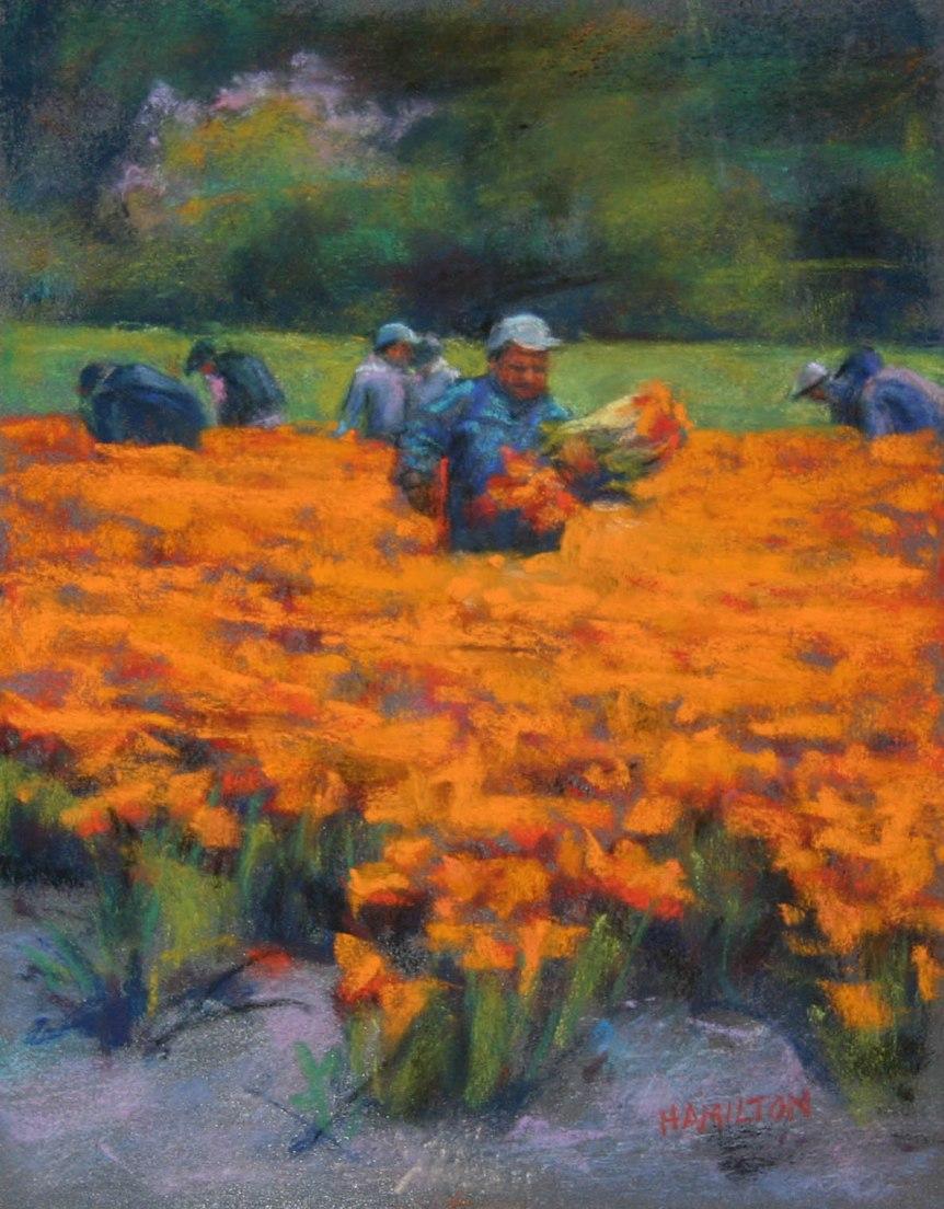 1664 Tulip Picking Time 10X8 7-17