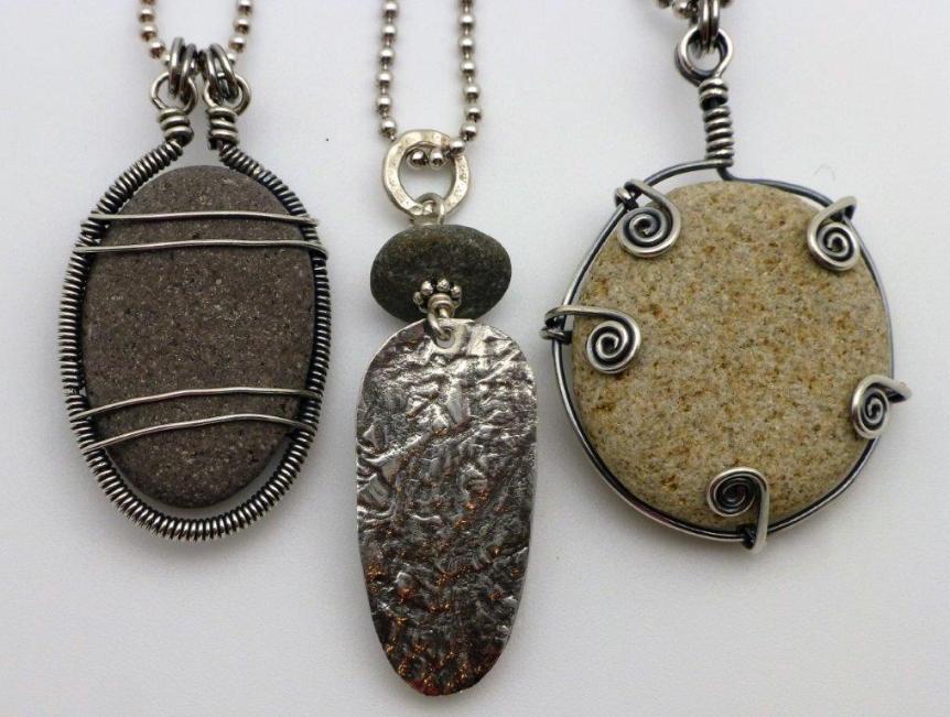 Kathy Dannerbeck Rock Pendants